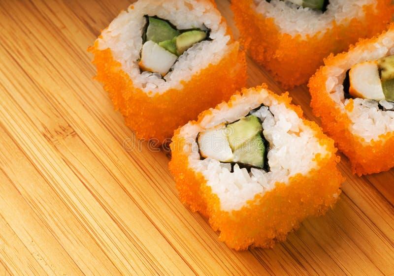 kalifornijskie futomaki sushi obrazy stock