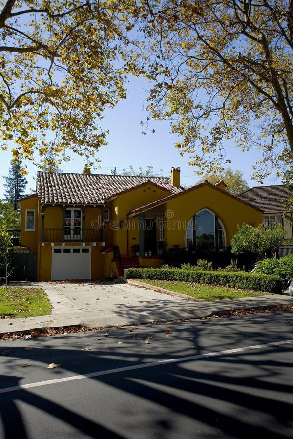 kalifornijskie półwyspu San Francisco domu klasycznych na południe obraz royalty free