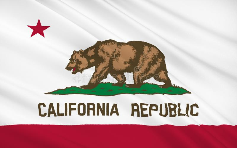 kalifornijskie państwa bandery royalty ilustracja