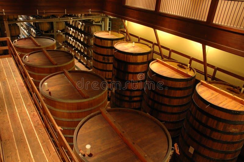 kalifornijskie sonoma wewnętrzna wytwórnia win zdjęcie royalty free