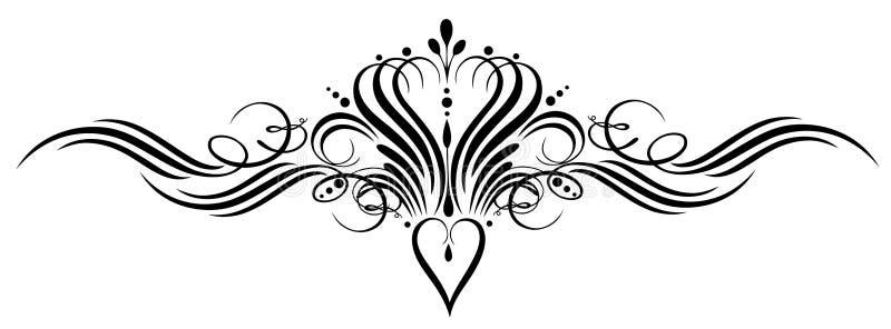 Kaligrafia, korona royalty ilustracja