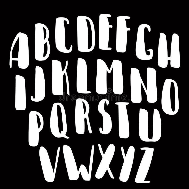 Kaligraficzna wektorowa chrzcielnica Ręcznie pisany muśnięcie stylu kaligrafii nowożytny typeface obraz stock