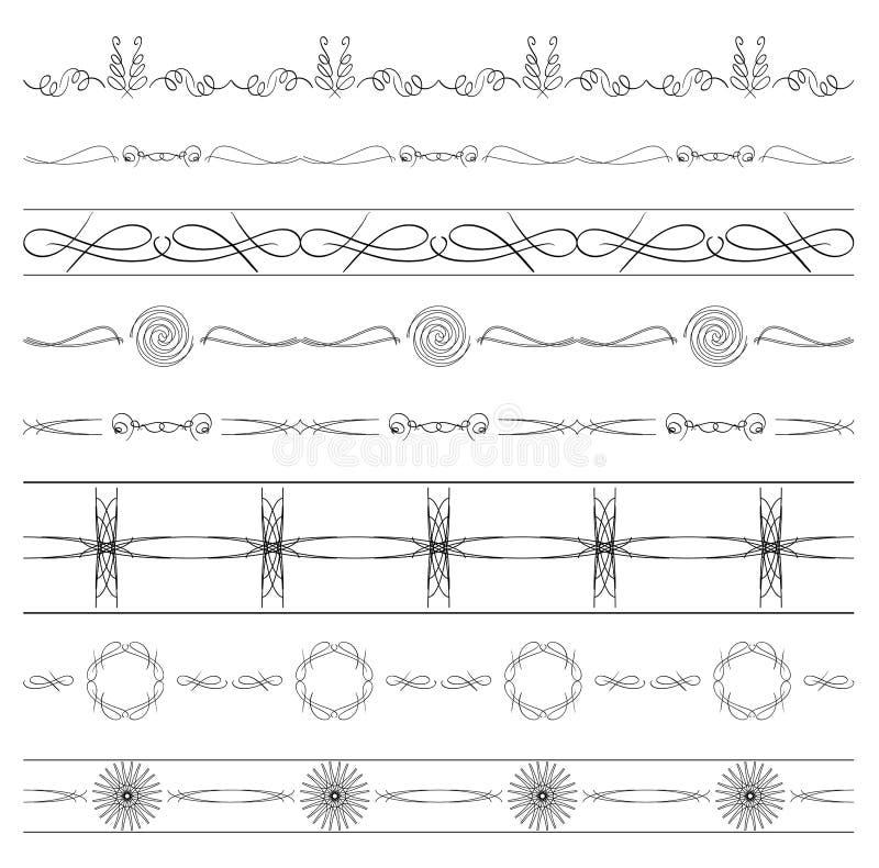 Kaligraficzni dividers - wektorowy ustawiający granicy ilustracji
