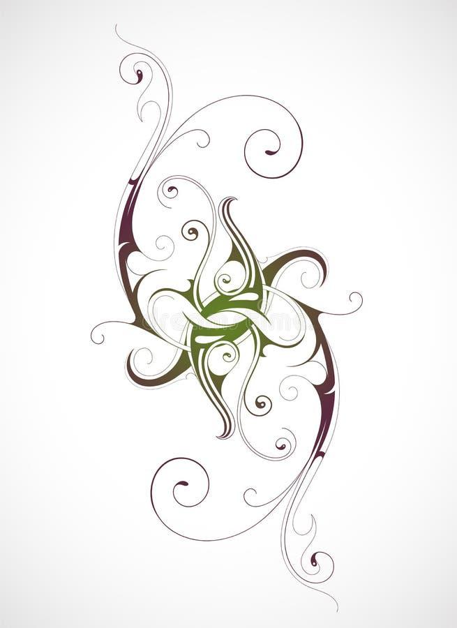 Kaligraficzni zawijasy ilustracji