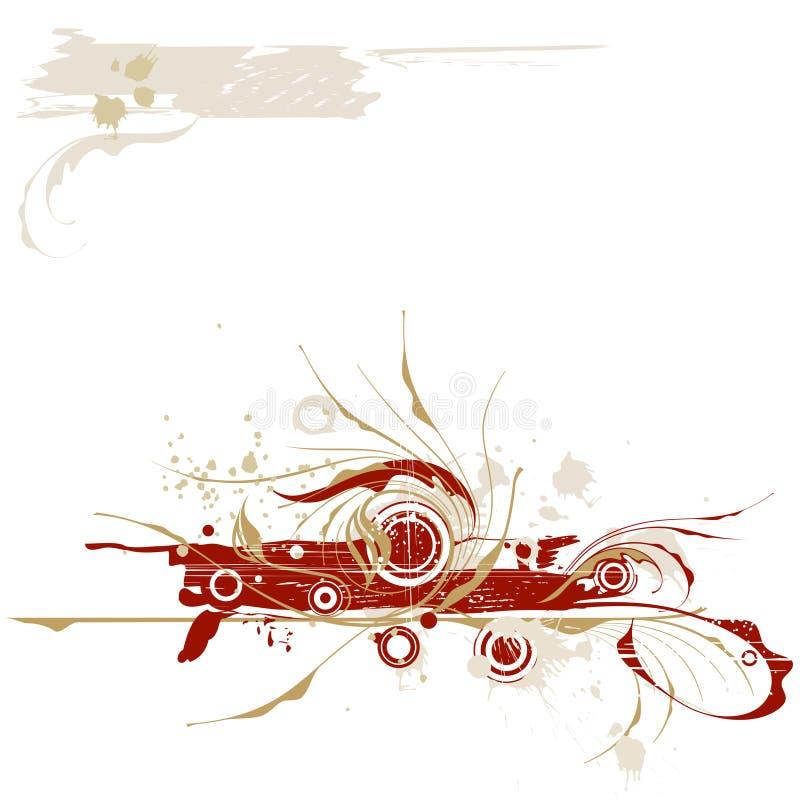 kaligraficzny rocznik crunch royalty ilustracja