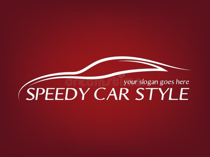 Kaligraficzny samochodowy logo royalty ilustracja