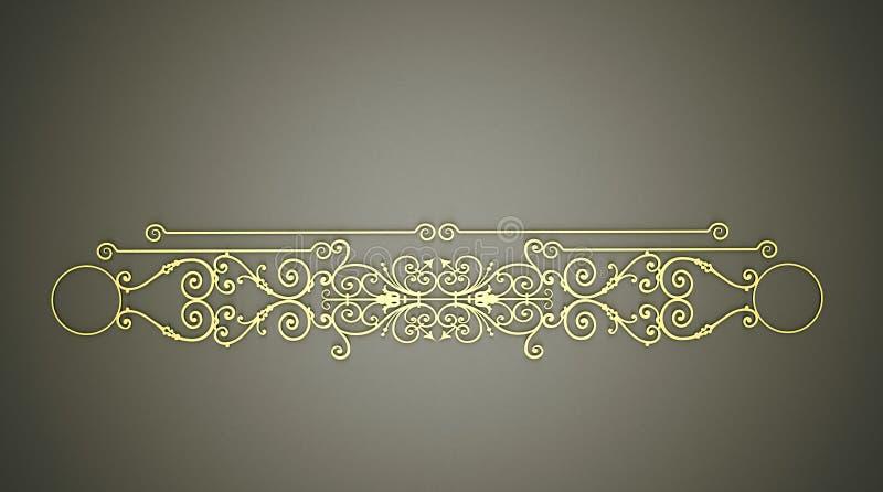 kaligraficznych projekta elementów złocisty ornament ilustracji