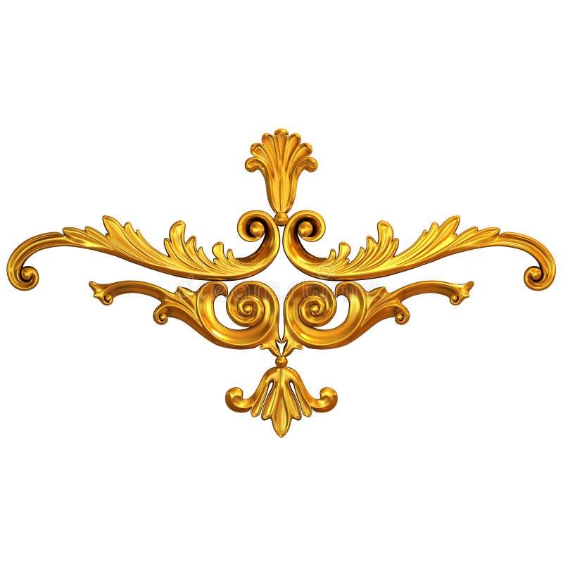 kaligraficznych projekta elementów złocisty ornament zdjęcie stock