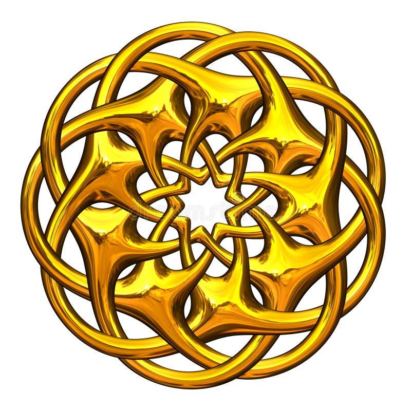 kaligraficznych projekta elementów złocisty ornament ilustracja wektor