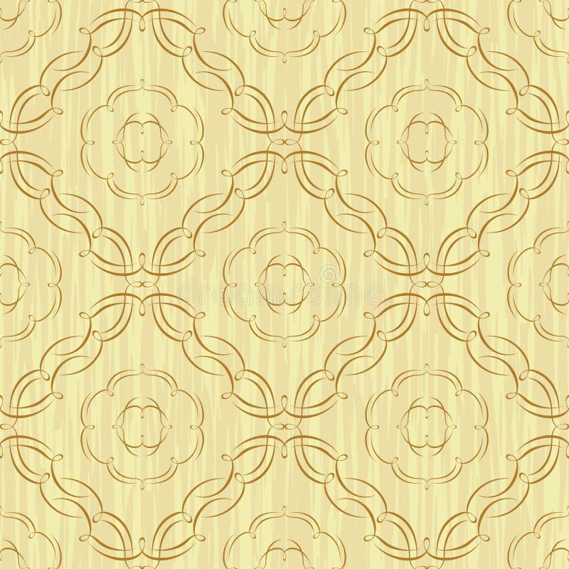 Kaligrafii dekoracyjny bezszwowy tło ilustracji