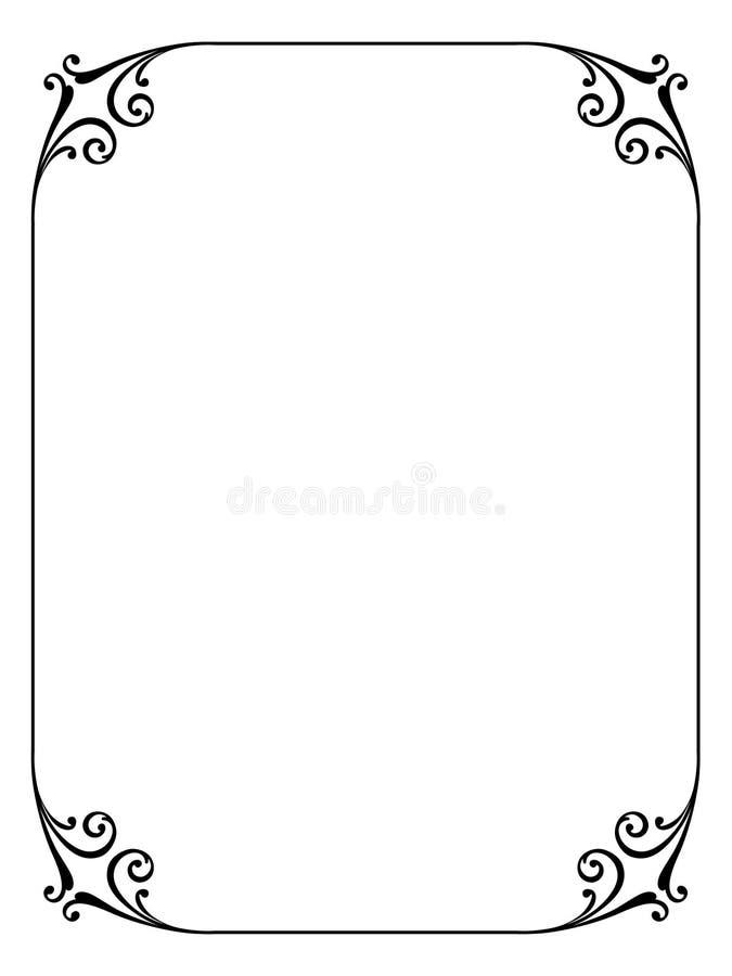 kaligrafii ornamental dekoracyjny ramowy royalty ilustracja