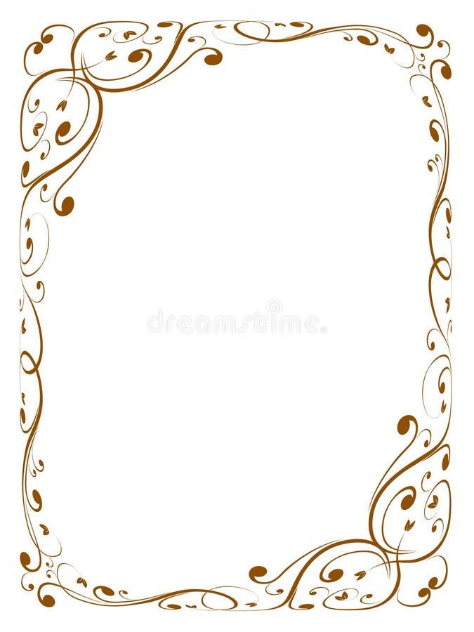 kaligrafii ornamental dekoracyjny ramowy ilustracja wektor