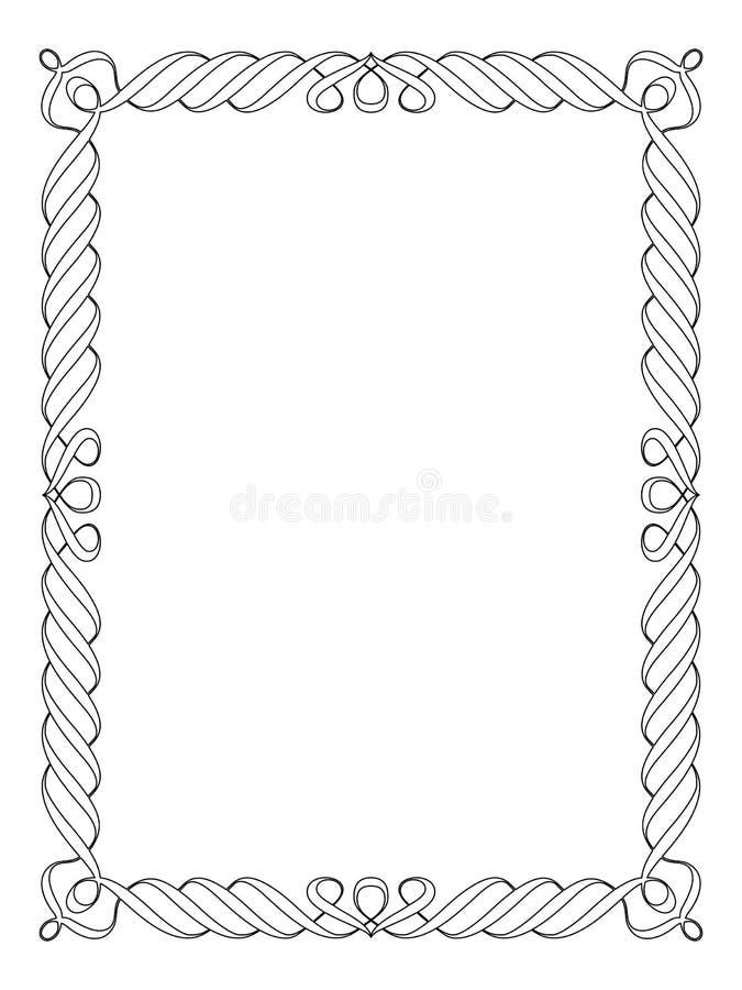 kaligrafii ornamental dekoracyjny ramowy ilustracji