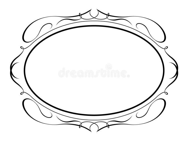 kaligrafii penmanship dekoracyjny owalny royalty ilustracja