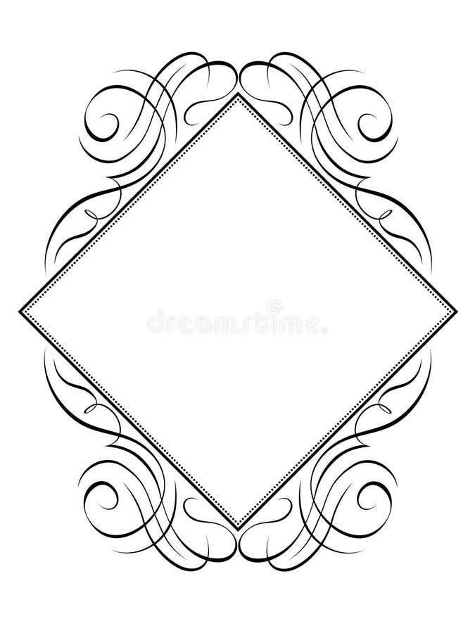 kaligrafii ramy wzoru ukośnik ilustracja wektor