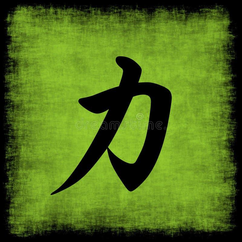 kaligrafii siła chińska ustalona ilustracji