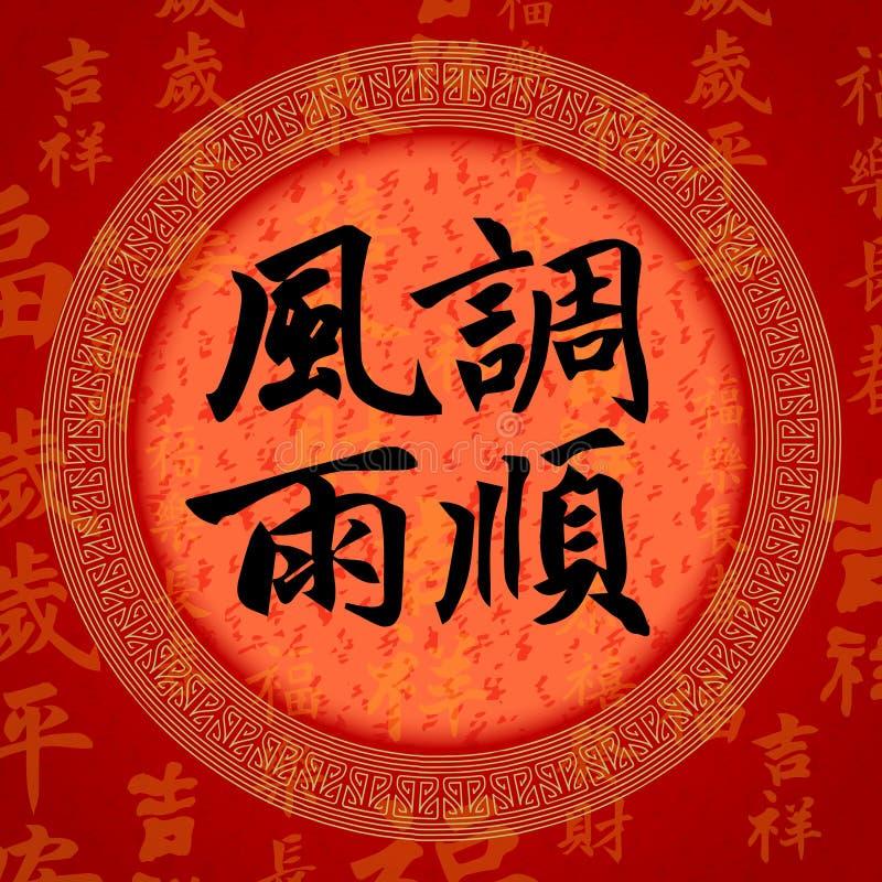 Kaligrafii szczęścia Chińscy symbole royalty ilustracja