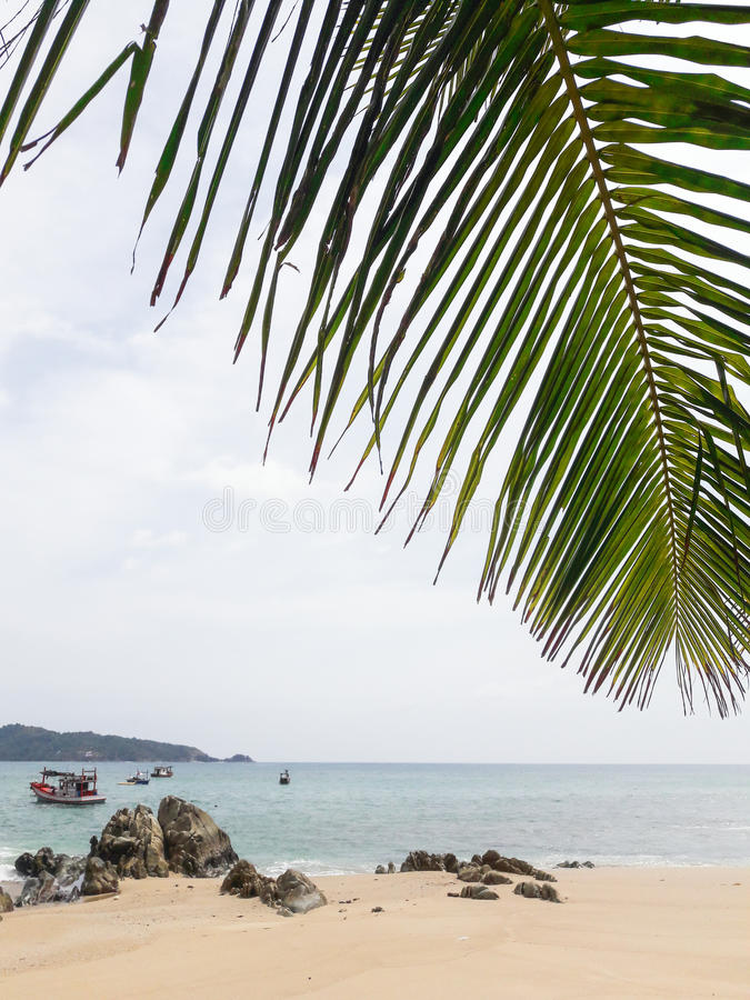 Kalim beach stock photography