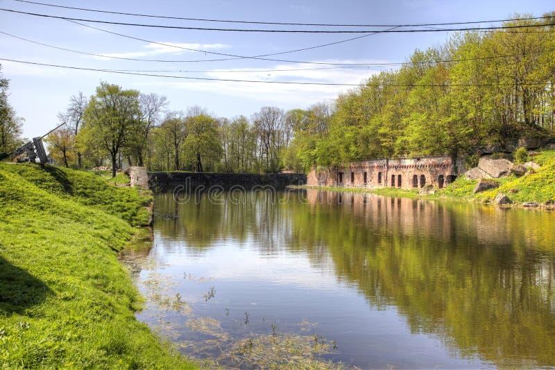 Kaliningrad Fort Nr 5, militaire historische herdenkings complex stock fotografie