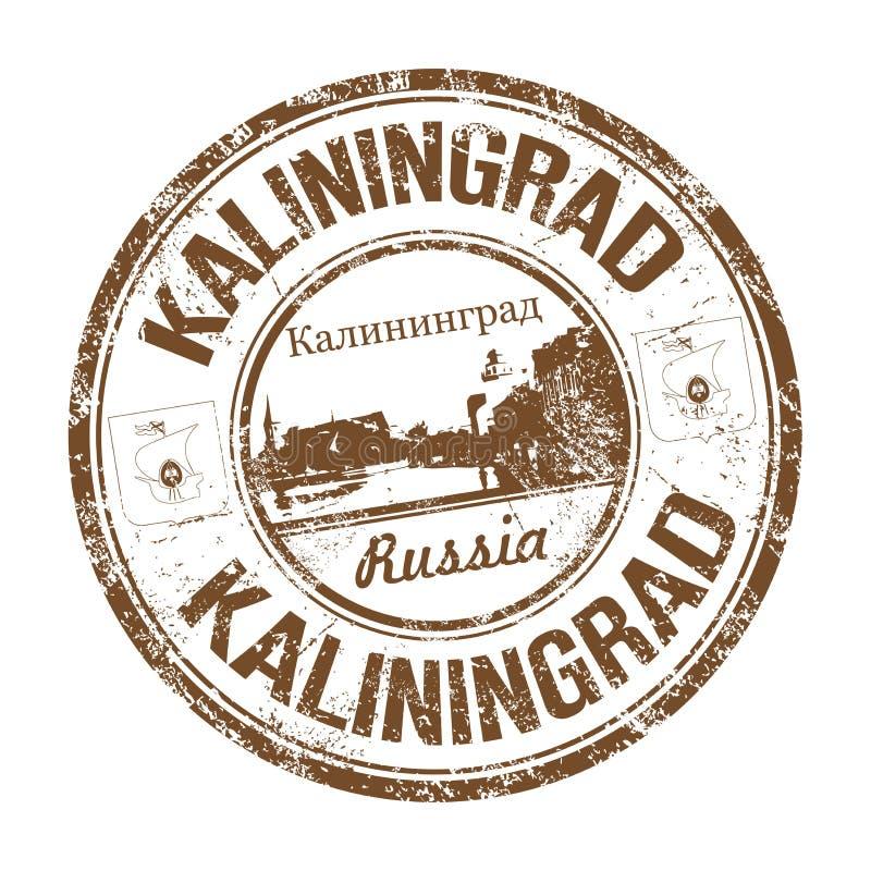 Kaliningrad grunge rubber stamp royalty free stock photography