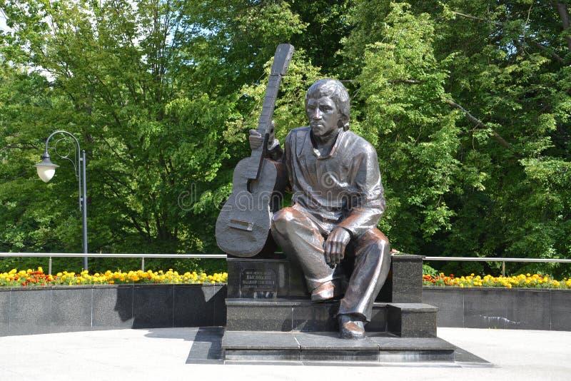 Kaliningrad Monument till skådespelaren Vladimir Vysotsky royaltyfria foton