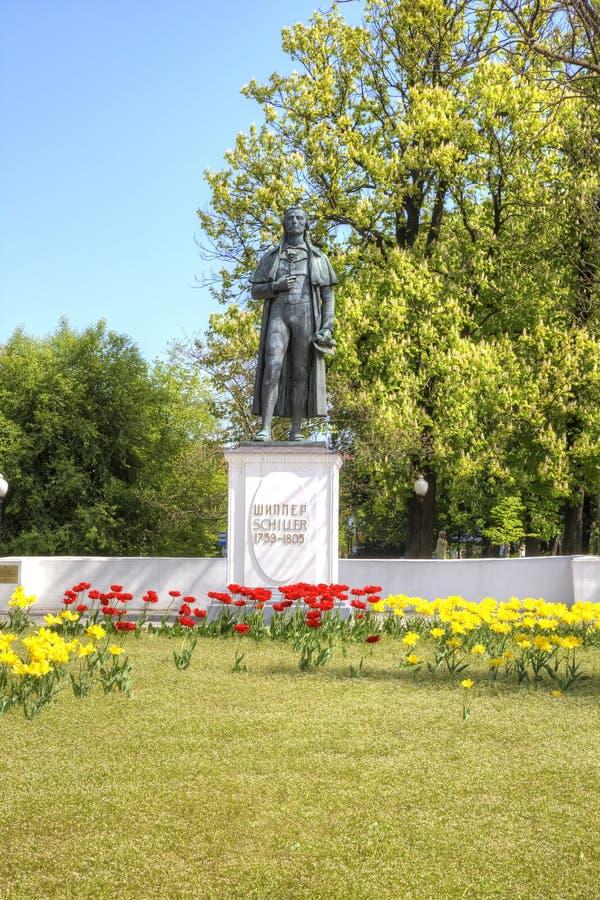 Kaliningrad Monumento a Friedrich Schiller imagem de stock