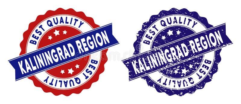 Kaliningrad-Regions-bester Qualitäts-Stempel mit Bedrängnis-Effekt vektor abbildung