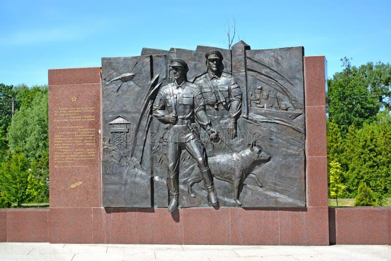 Kaliningrad, Rosja Czerep rzeźbiony pamiątkowy kompleks «Nadgraniczni strażnicy wszystkie pokolenia obrazy royalty free