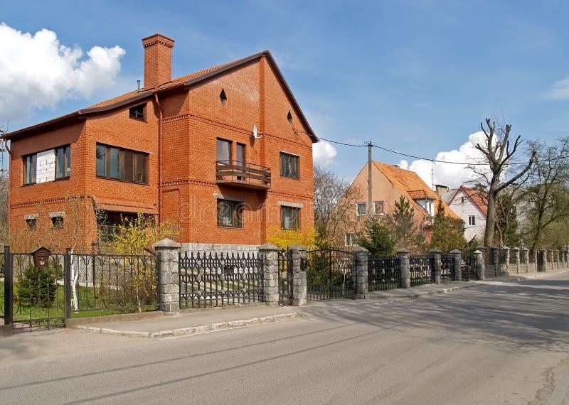 Kaliningrad, Rosja Domy na Saratovskaya ulicie zdjęcie royalty free