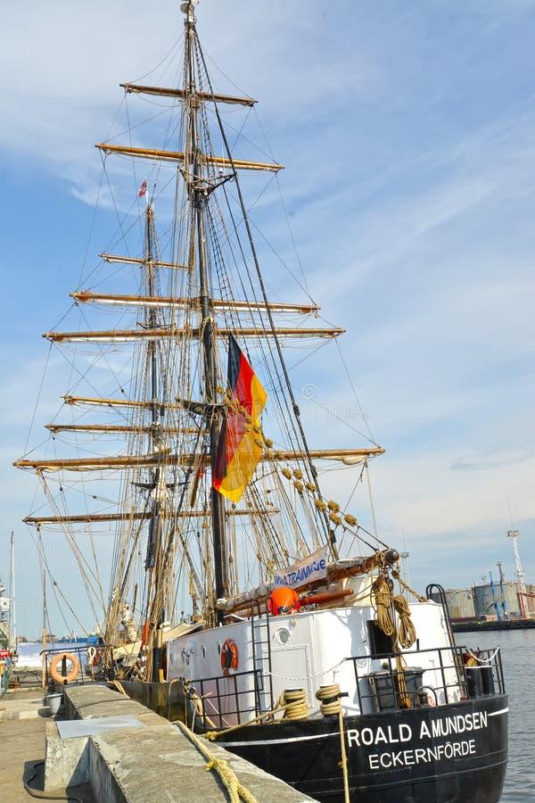 Kaliningrad, Russia Imbarcazione a vela di formazione tedesca fotografia stock