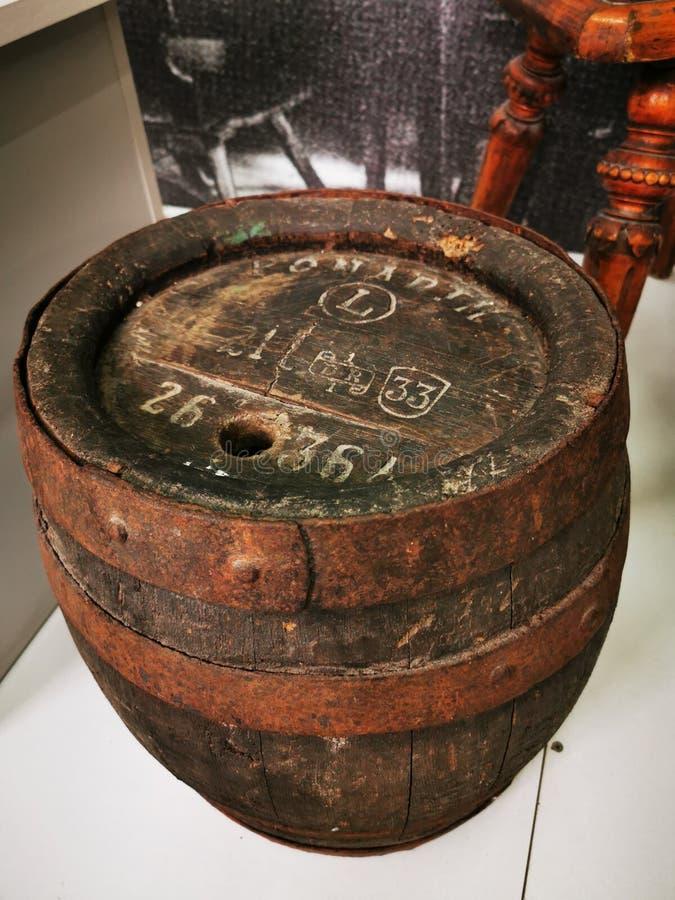Local history Museum Vintage wooden beer barrel stock illustration