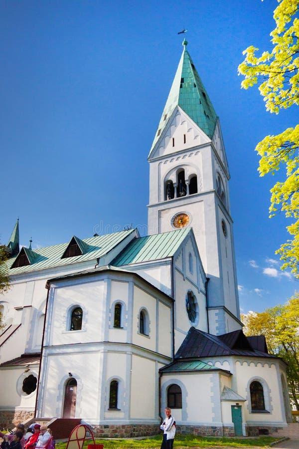 KALININGRAD, RUSSIE - 27 AVRIL 2014 : Reine Louise Memorial Church de théâtre de marionnette de Kaliningrad l'ancienne photo libre de droits