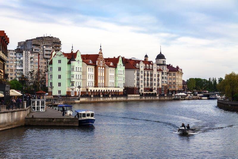 Kaliningrad Russie 05 01 Centre ethnographique et commercial du village de pêcheurs 2019 image libre de droits