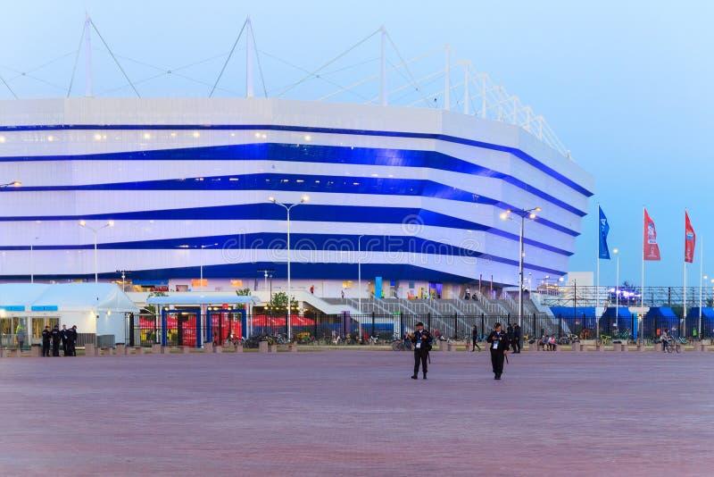 KALININGRAD, RUSSIE - 16 JUIN 2018 : Même la vue du stade de football moderne de Kaliningrad a également appelé Arena Baltika photo libre de droits
