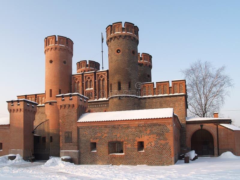Kaliningrad, Russie Porte de Fridrikhsburgsky pendant le matin d'hiver photographie stock