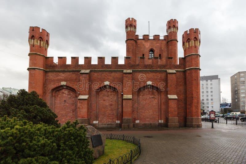 Kaliningrad, Russische Federatie - 4 Januari, 2018: De Koninklijke Poorten royalty-vrije stock afbeeldingen