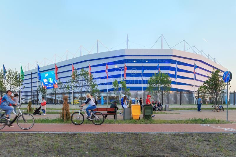 KALININGRAD, RUSSLAND - 16. JUNI 2018: Ansicht der modernen Kaliningrad-Fußballstadion Arena Baltika lizenzfreies stockbild