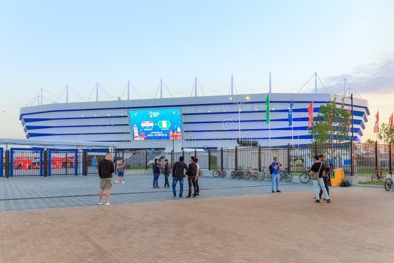 KALININGRAD, RUSSLAND - 16. JUNI 2018: Ansicht der modernen Kaliningrad-Fußballstadion Arena Baltika lizenzfreie stockfotografie