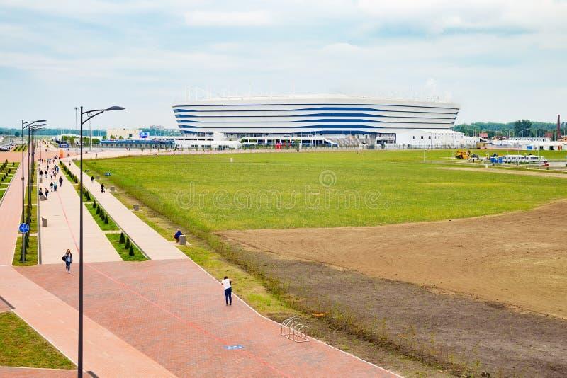 KALININGRAD, RUSSLAND - 13. JUNI 2018: Ansicht des modernen Kaliningrad-Fußballstadions rief auch Arena Baltika an stockbild