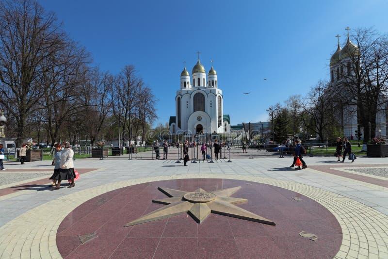 Kaliningrad stad royaltyfri fotografi