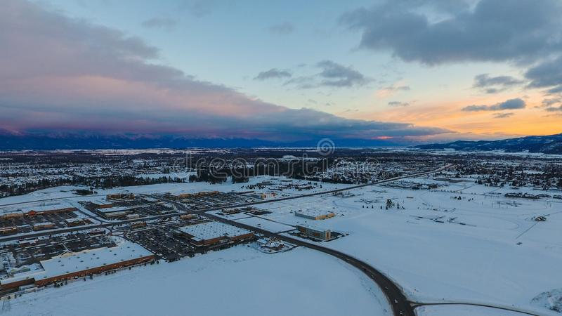 Kalispell, Montana images libres de droits