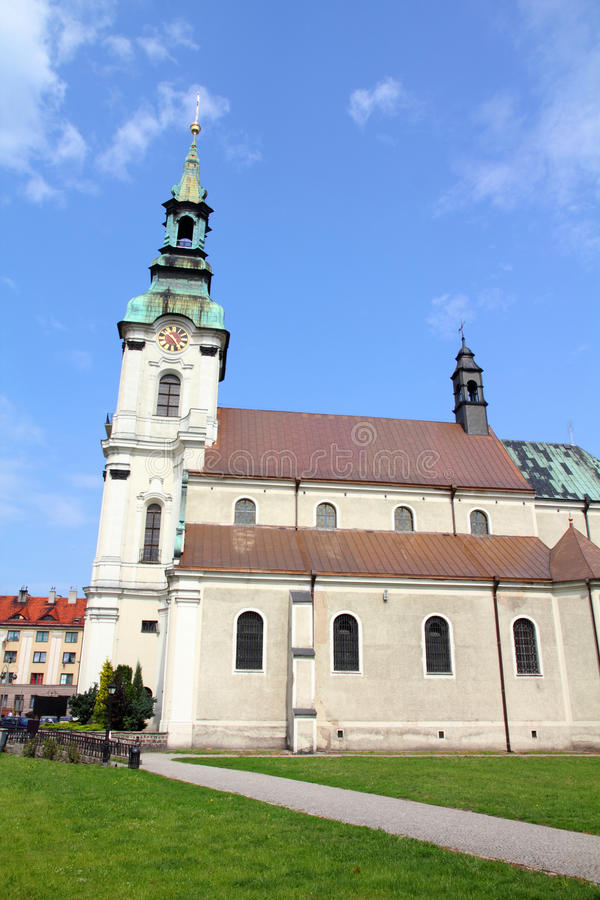 Kalisz, Poland. Poland - city view in Kalisz. Greater Poland province (Wielkopolska). Church of Saint Joseph stock photo