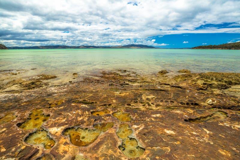 Kalk-Bucht-Zustands-Reserve Tasmanien stockfotos