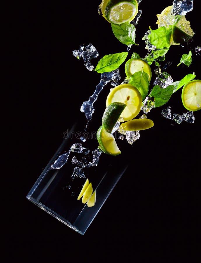 Kalk, citroen en pepermunt royalty-vrije stock foto