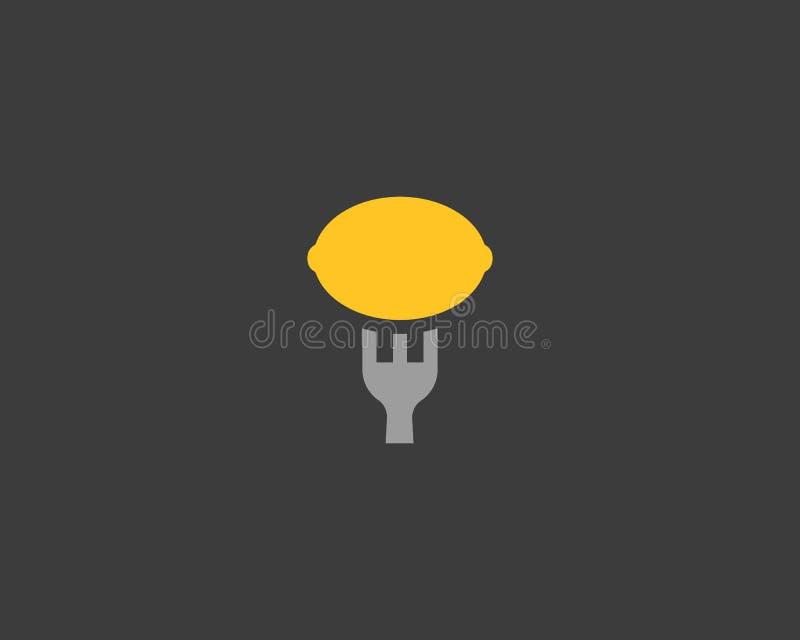Kalk of citroen vector het malplaatjeontwerp van het embleempictogram Vers voedsel logotype vector illustratie