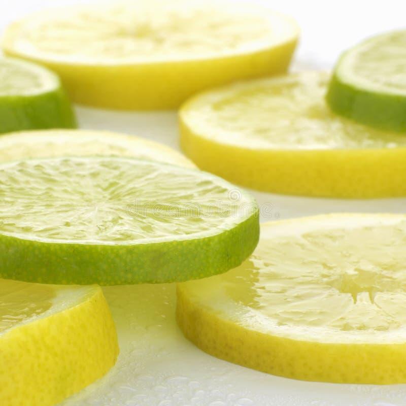 kalk en citroen royalty-vrije stock fotografie
