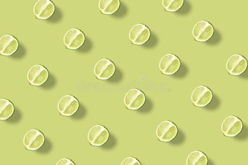 Kalk groen minimaal patroon royalty-vrije illustratie