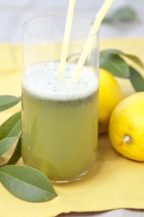 Kalk und Zitronensaft mit Petersilie lizenzfreie stockfotos