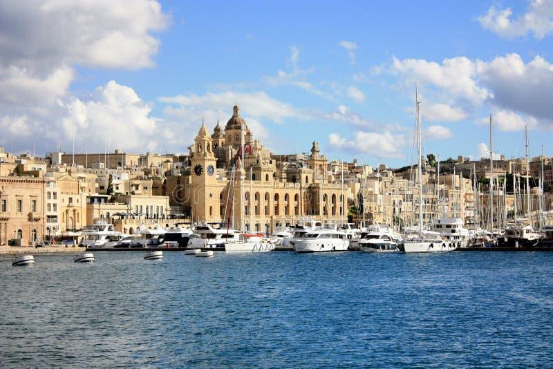 Kalkara Malta royaltyfri bild