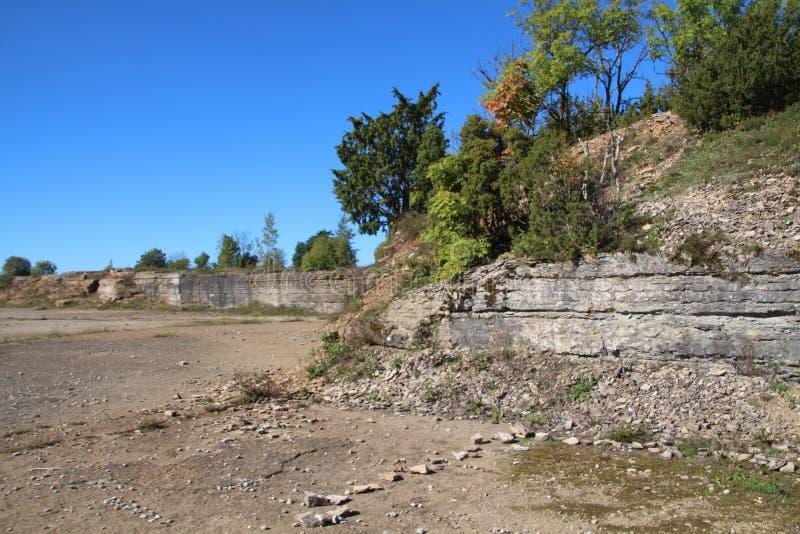Kalksteen quarry stock fotografie